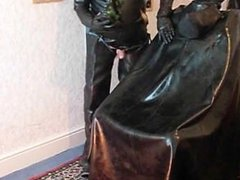 Behind Southport vidz curtains two  super rubber friends do what they enjoy most! mmmm
