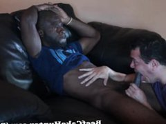 Soothing blowjob vidz for a  super black construction worker dude (full video)