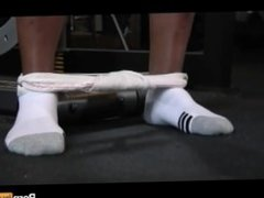 pov blowjob vidz at the  super gym