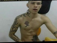 Sexy Tattooed vidz Twink Wanks