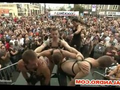 Outdoor Gay vidz Public and  super Fetish Gangbang folson st