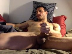 Amateur lean vidz muscle stud  super jerks beautiful cock