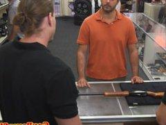 Pawnshop amateur vidz jerking for  super quick cash