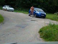 Caught naked vidz in a  super Parking lot 02