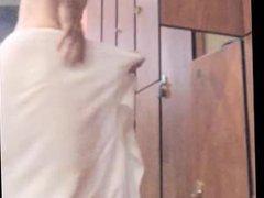 hung Gym vidz Jock gets  super dressed on spy cam - big dick swings in boxer briefs