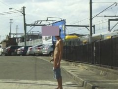 Wank in vidz public street
