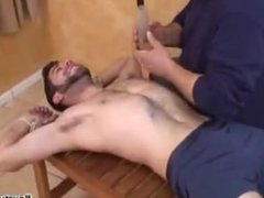 Anthony tickled vidz with boner