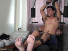 Asian Boy vidz Warren Gets  super Hog Tied and Tickled