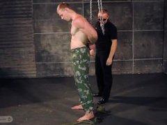 Muscle prisoner vidz hard flogging  super hands behind back
