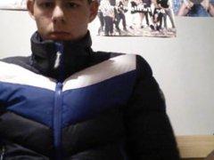 Jerking off vidz in a  super superdry snow puffy jacket