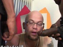 Tattooed white vidz thug sucking  super black cocks for cash