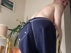 playing with vidz hard dick  super under shorts