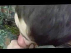 Str8 German vidz soldiers first  super time swallow cum