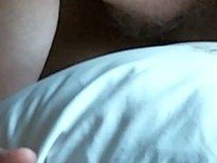 wanking on vidz my bed