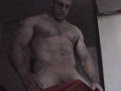 Verbal Straight vidz Muscle Hunk  super Shoots Cum talking to girl
