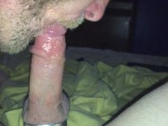 Sucking on vidz my husbands  super very sexy cock