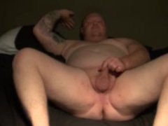 Chubby guy vidz with pierced  super dick and ass play