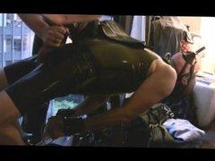 Rubber poppers vidz latex gas  super mask / hanjob edge sex boy slave / hard edging !