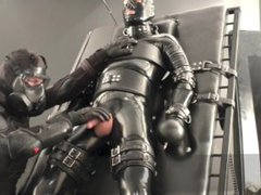 Rubber guys vidz - extreme  super orgasm - milk machine - slave