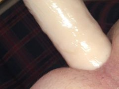 Fucking Myself vidz with the  super Giant Dildo