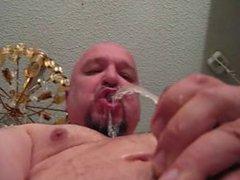 Jerking and vidz drink my  super piss