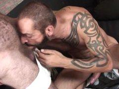 Tattooed DILF vidz fucks his  super horny older buddy