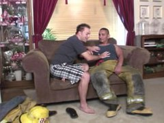 Latino firefighter vidz can't resist  super his gay temptations