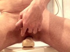 jerking and vidz my first  super (really!) dildo experience