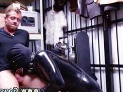 A straight vidz gay man  super erection movieture Dungeon tormentor with a gimp