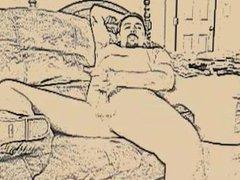 jacking off vidz in sandals  super (sketch effect)
