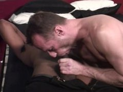 Gay athletic vidz DILF wants  super to be stuffed with hard black cock