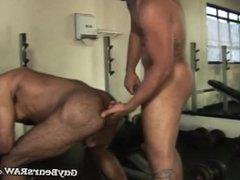 Workout jocks vidz Abe and  super Allen blow each other