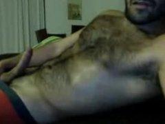 Bear straight vidz guy cumming  super on cam