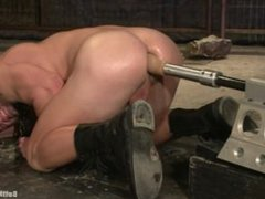 Hunk gets vidz tied up  super and fuck in the ass by a machine