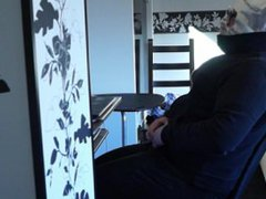 chubby hairy vidz boy moms  super bra&string,tight jeans,boots,pee drinking,choking,gag