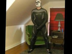 frogman wearing vidz lucha libre  super skeleton mask