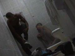 BIG BLACK vidz DICK HARD  super FUCK - Shower Bondage - Goncalo Morales & Riu Melo