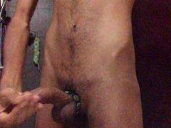 Big Dick vidz Show off  super in Bathroom