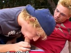 Blonde guys vidz Jeremiah and  super Casey enjoying a poolside banging