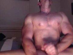 Muscle Stud vidz Jerks Off  super on Cam & Cums