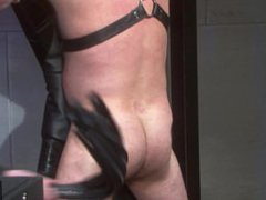 Leather Daddy vidz Ties Up  super and Fucks Leather Daddy