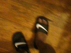 Showing My vidz Feet In  super Nike Slides