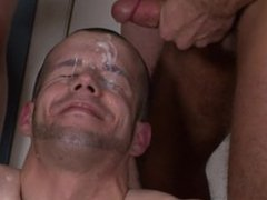 Cute guy vidz gets his  super tight asshole gang banged hardcore by a group