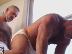 Hairy Daddies vidz Rip Each  super Other's Underwear Off at the Gym and Fuck