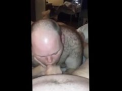 Chub getting vidz his dick  super sucked with a nice cum shot!