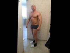 Russian Hunk vidz Muscle Flexing  super ( No Cum )