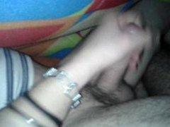 wanking my vidz daddy while  super he's asleep