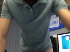 Showoff his vidz cock on  super cam at work