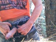 Uncut cock vidz forest stroking  super #4