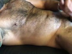 Hot Hairy vidz Daddy Jerks  super Off & Cums for Me